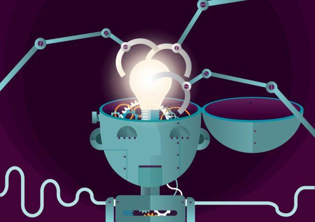 robot og forretning