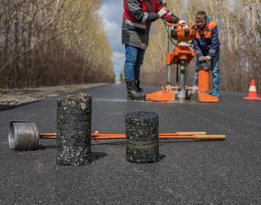 Boring i asfalt